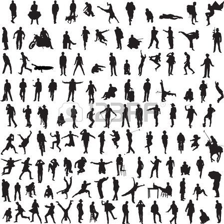 More Than 100 Different Silhouettes Of Men Architecture People Silhouette Shadow Architecture