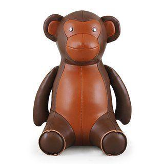 Zuny Classics Buchstutze 1kg Affe Braun Leather Teddy Bear