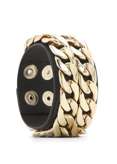 MANGO - Double chain bracelet