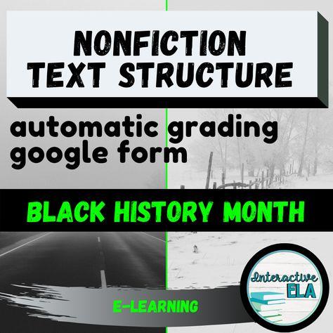 Nonfiction Text Structure Google Form: Black History Month