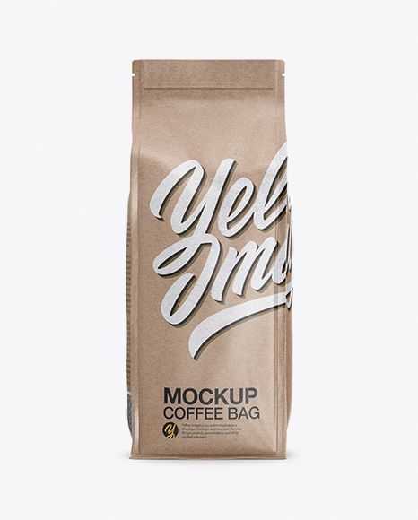 Download Kraft Paper Coffee Bag Mockup Front View In Bag Sack Mockups On Yellow Images Object Mockups Bag Mockup Mockup Free Psd Free Psd Mockups Templates