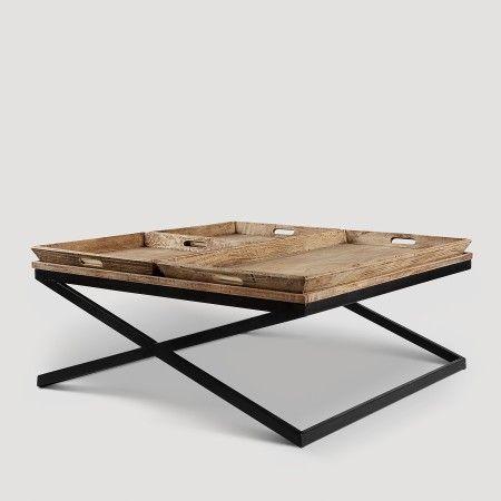 Swazi Coffee Table With Tray Mango Wood Koala Tree Unique Coffee Table Coffee Table Contemporary Coffee Table