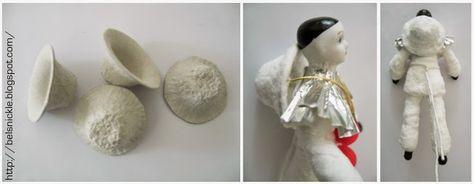 Belznickle Blogspot : Pierrot Cotton Batting Figure Ornament