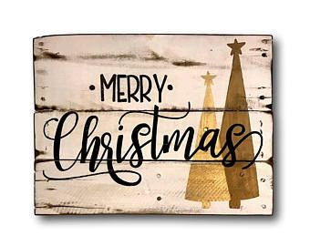 Eat Drink And Be Merry Wood Christmas Sign Christmas Decoration Rustic Christmas Wall Gold Weihnachtsschmuck Weihnachtsschmuck Rustikal Weihnachtsschilder