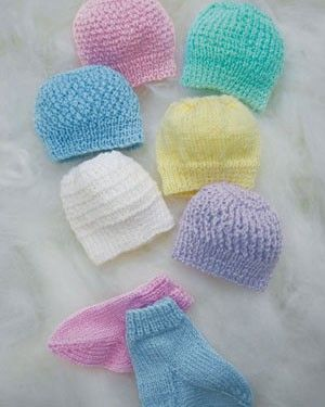 Naturally K598 Hat Socks For Premature Baby In 1 3 Ply Weight