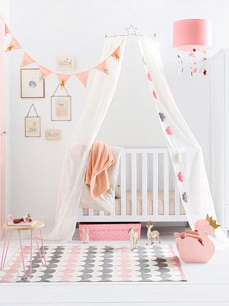 Vertbaudet Betthimmel Halterung Fur Kinderbetten In Grau Mit Bildern Kinderzimmer Weiss Kinder Zimmer