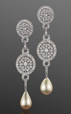 EVER FAITH/® Femme Cristal Zircon Perle Artificielle Victoria Style Parures Bijoux Clair