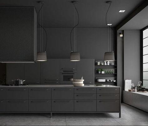 Image result for kungsbacka kitchen black Mod Kitchen Pinterest