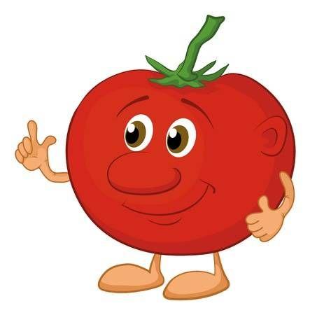 Dibujos Animados Verduras Tomate De Caracter Aislado Sobre Fondo Blanco Tomates Dibujo Ser Saludable Tomate