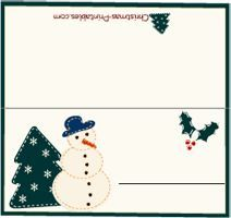 Free Printable Christmas Place Cards Pinteres - Celebrate it templates place cards