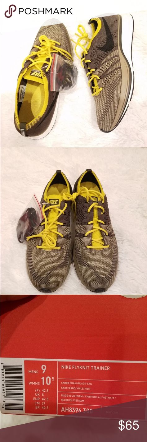 4cb051d03004 Nike- flyknit trainer in cargo color size 9 Nike- flyknit trainer in cargo  color size 9 New with tags Will ship without the box Nike Shoes Sneakers