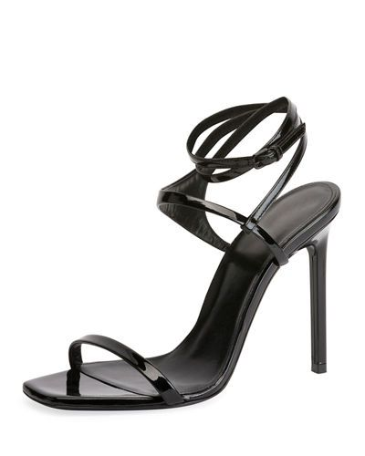 fd3db9f3aa5 Saint Laurent Amber Edie Patent Sandal | shoes - Yves Saint Laurent ...
