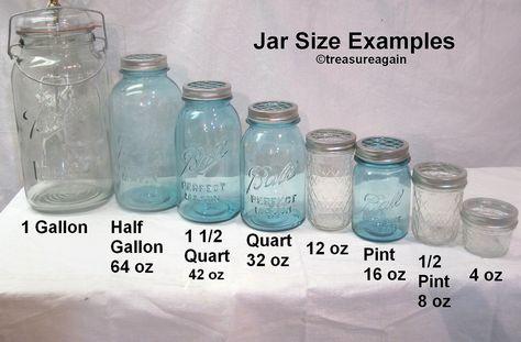 Ball Mason Jar Sizes Comparison to do when bored crafts jar crafts crafts