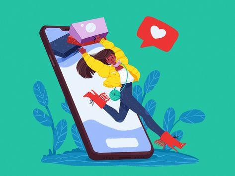 Mobile Ecommerce Illustration