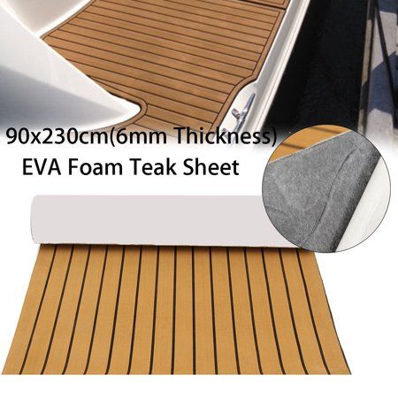 12 Colors Marine Yacht Boat Rv Flooring Sheet Decking Teak Eva Foam Self Adhesive Mat 94 X35 91 X35 6mm Thickness Walmart Com In 2020 Marine Flooring Synthetic Decking Yacht Flooring
