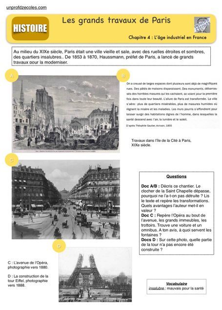 Cahier D Histoire Cm2 By Edouard Vincent Book Creator World History Teaching World History Lessons Industrial Revolution