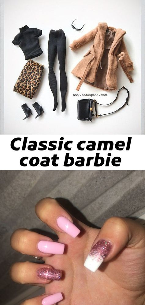 Classic camel coat barbie
