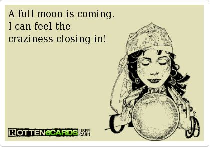 ff71ded21a55f7150c37e9a60b1af40a 8 best full moon crazy images on pinterest rn humor, blue moon and