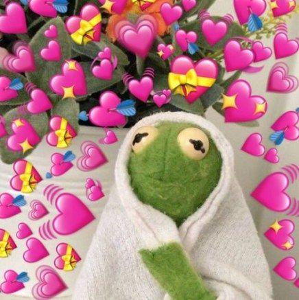 Cartoon Memes Hearts Cartoon Memes In 2020 Frog Wallpaper Cute Love Memes Cute Memes