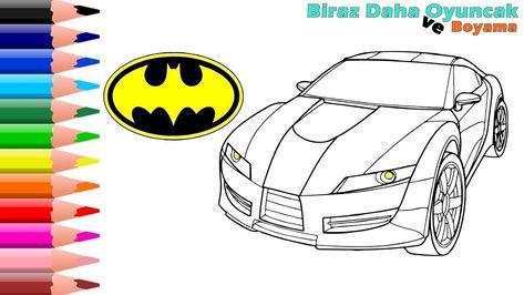 Batman Ve Araba Boyama Oyunu En Guzel Boyamalar Biraz Daha Oyuncak