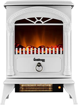 E Flame Usa Hamilton Free Standing Electric Fireplace White Home Kitchen Free Standing Electric Fireplace Fireplace Heater Electric Fireplace