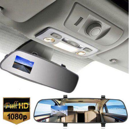 ADDKEY Night Vision Car Dvr detector Camera Blue Review Mirror DVR Digital