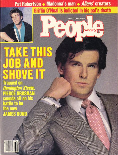 Pierce Brosnan Cover People Magazine 1986 by clutterbunny on Etsy