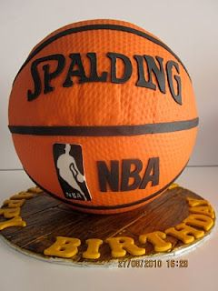 Celebrate with Cake!: Ribbon Cake with Ribbon Cupcakes and Basketball Cake