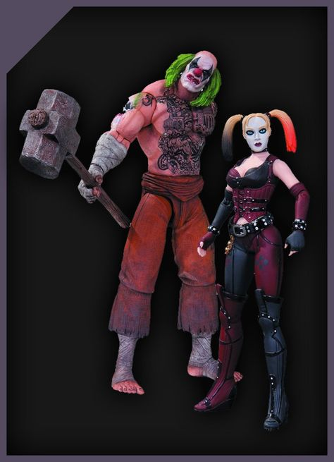 Arkham City Hammer and Harley Quinn Action Figure DC Collectibles Batman Mr