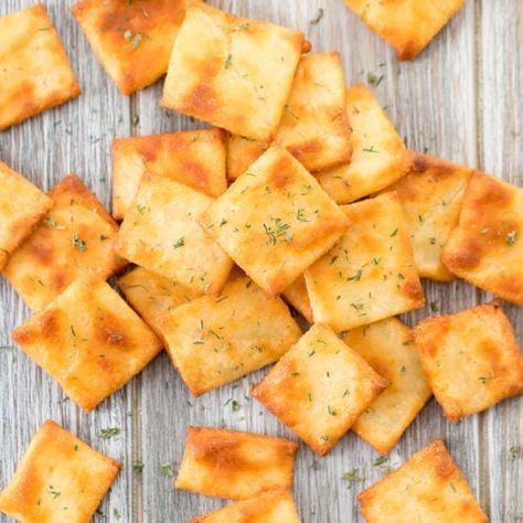 Keto Low Carb 30 Minute Crackers (140) Fathead cheese dough - Kirbie's Cravings