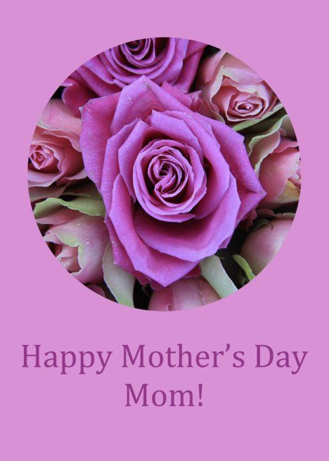 Happy Mother Rsquo S Day Mom Pink Purple Roses Card Ad Ad Rsquo Day Happy Mother Purple Roses Happy Mothers Day Mom Cards