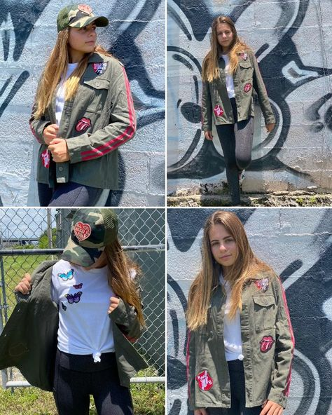 Rockin the Rolling Stones  custom patched  Military jacket by SOJARA.