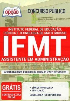 Apostila Concurso Ifmt 2019 Assistente Em Administracao
