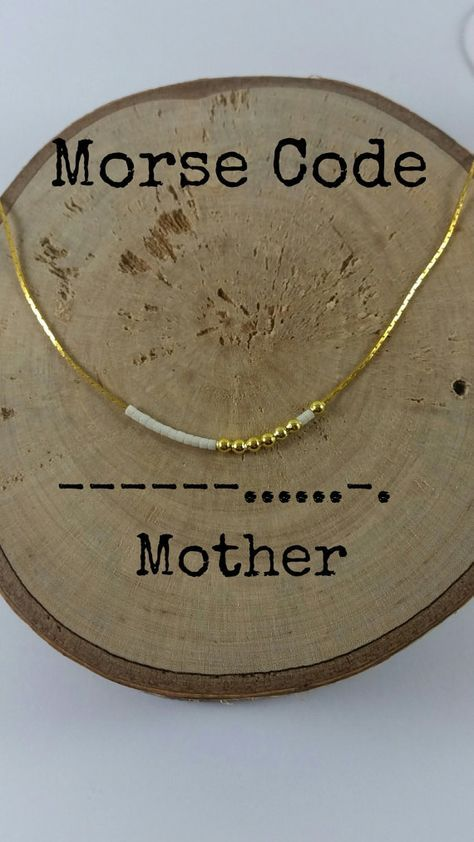 Mimi Morse Code Necklace \u2022 Grandma Necklace \u2022 Mothers Day Gift \u2022 Secret Message \u2022 Sterling Silver or Gold Filled\u2022 Grandmother Gift