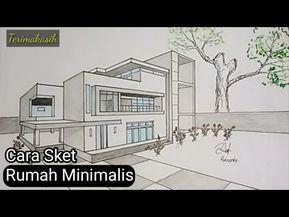 Cara Menggambar Sketsa Rumah Dengan Metode Perspektif Gambar Teknik Youtube Cara Menggambar Gambar Teknik Sketsa