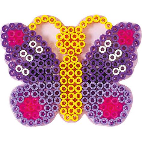 Hama Midi Bügelperlen Stiftplatte weiß 298 Schmetterling