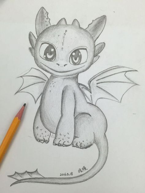 Stiftlos toothless from the kite training of sophia liu 160318 # 160318 #drachen ... - #drawingideaseasy