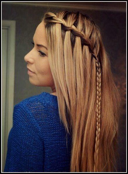 Cute Braid Ideas Lange Frisuren Fur Glattes Haar Bob Frisuren Geflochtene Frisuren Lange Haare Frisur Ideen