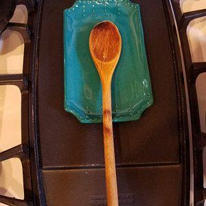 Jumbo Utensil Holder Aqua Mist Crock Flower Pot Kitchen