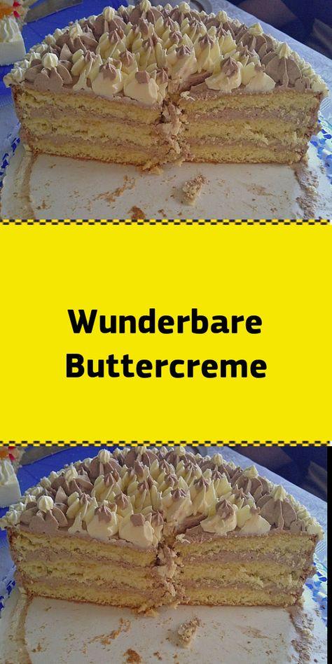 Wunderbare Buttercreme