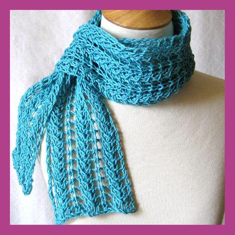 knitted+scarf+patterns+men | Knitting Patterns Scarf Lace scarf knitting pattern
