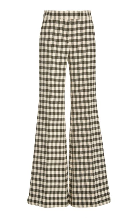 Marina Moscone Gingham Flared Trouser