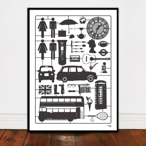 Airfix London Hand Pulled Screen Print by victoriaeggs on Etsy, $69.00