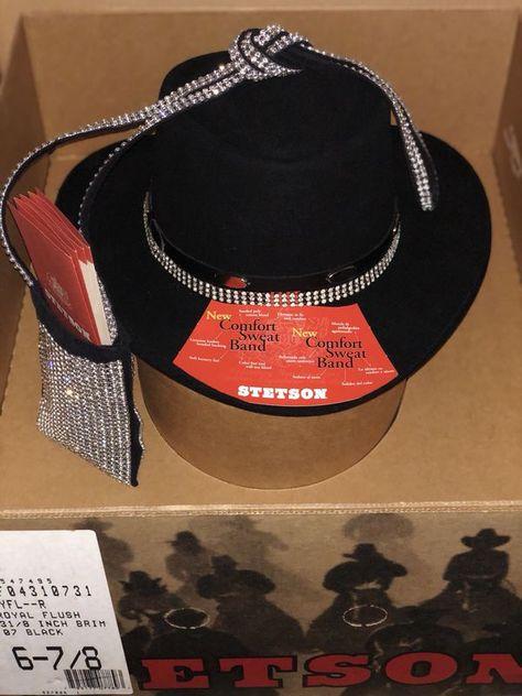 VTG WOMENS 6-7 8 GUN CLUB STETSON ROYAL FLUSH 3-1 8 BRIM BLACK COWBOY  COWGIRL HAT for Sale in Sugar Land d0c3ce8a775