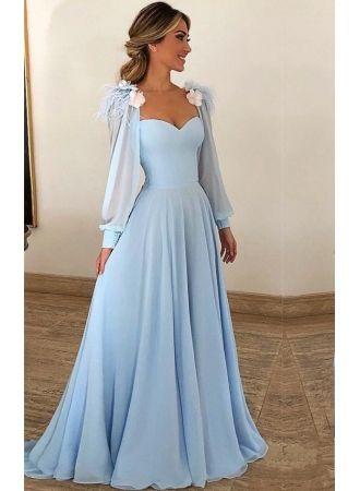lowest price ac236 1a55c Elegante Abendkleider Lang Günstig | Abiballkleider Blau ...