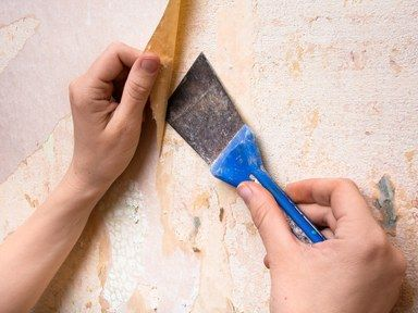 Here S The Trick To Removing Wallpaper Glue Remove Wallpaper Glue Cleaning Hacks Cleaning Painted Walls