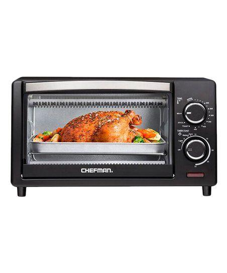 Chefman Black Four Slice Countertop Oven Zulily Countertop