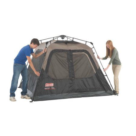 Coleman 4 Person Cabin Tent Walmart Com In 2021 4 Person Tent Family Tent Camping Cabin Tent