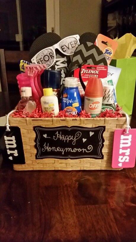Honeymoon Basket Personal Touch Homemade Gift Ideas Pinterest And Bridal Showers