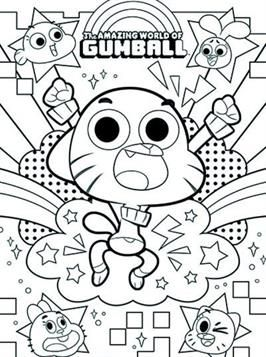 Coloring Page Amazing World Of Gumball Amazing World Of Gumball